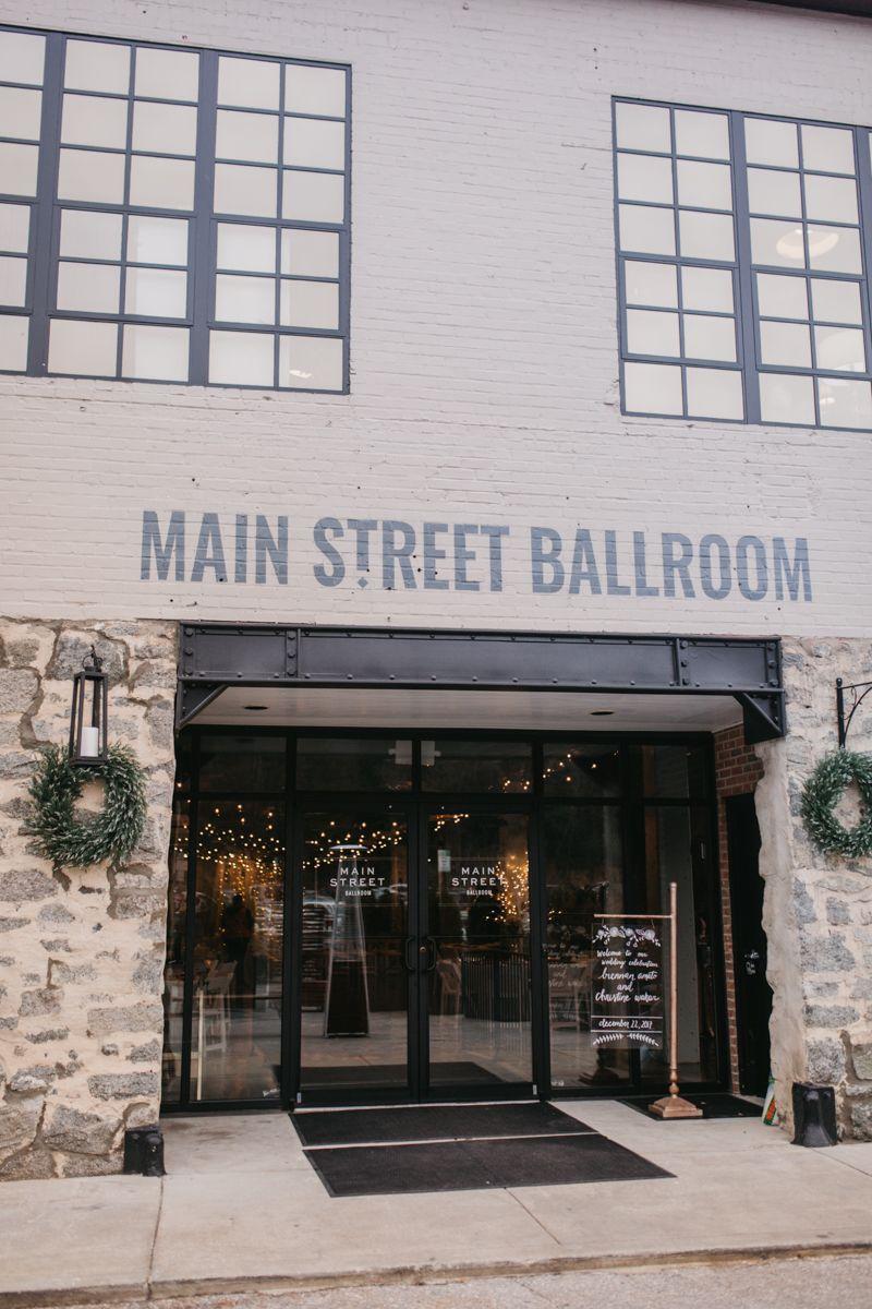 Christine and Brennan // Main Street Ballroom // Ellicott