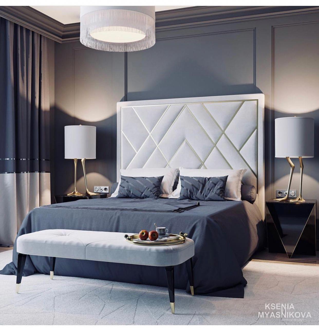 Glam e camera da letto di lusso mobili