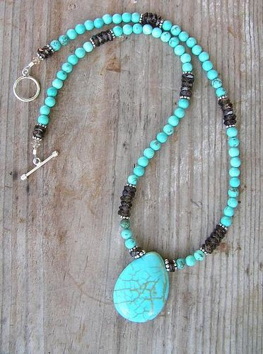Beaded Abalone Shell Turquoise Blue Suede Leather Necklace Pouch with Aventurine Adjustable Length Large Size 12.3 x 9.7 cm 4 78 x 3 34