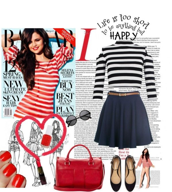"""""""Classic Summer Stripes"""" by style-stories ❤ liked on Polyvore"""