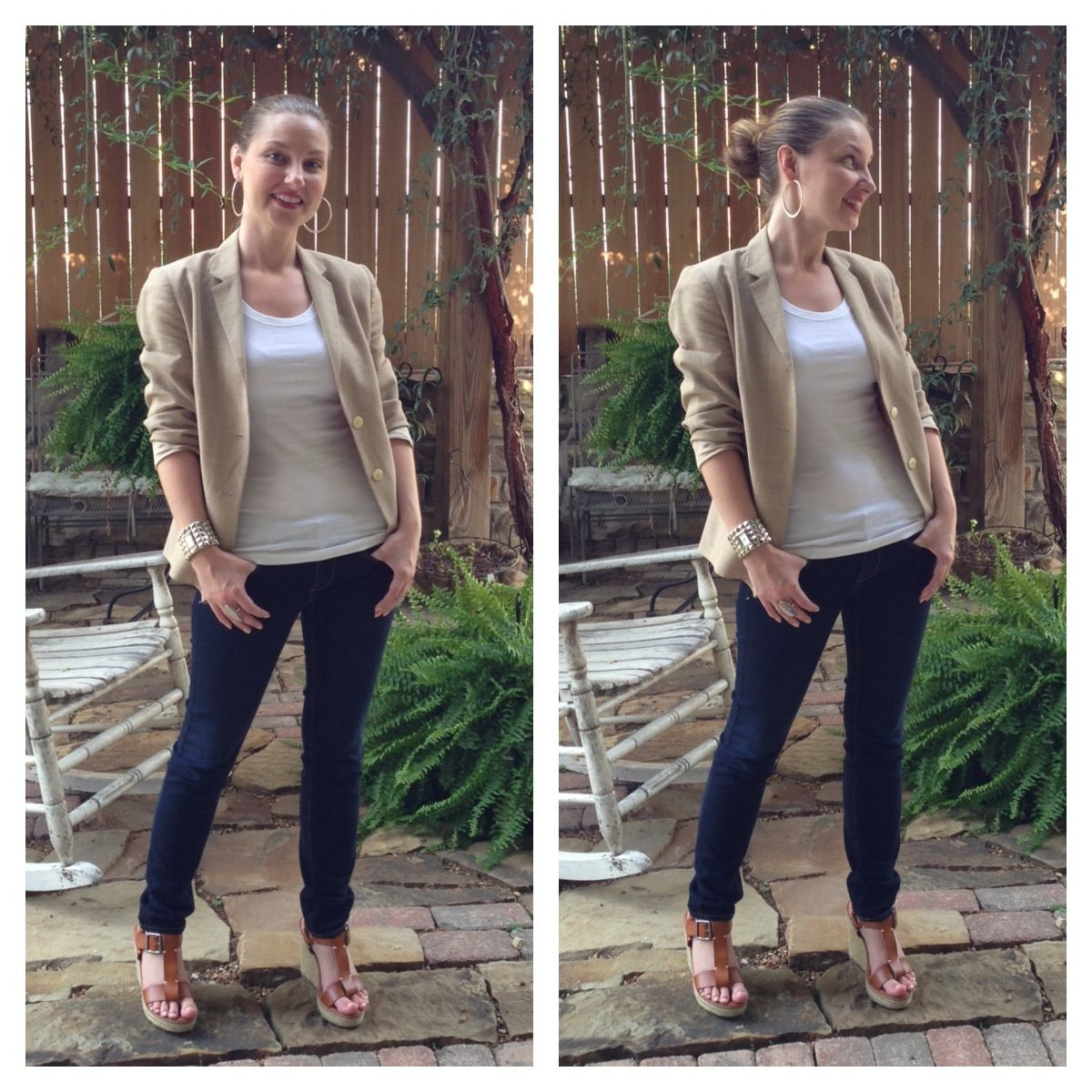 fcf7e98d43c My business casual look from the other day... Linen blazer