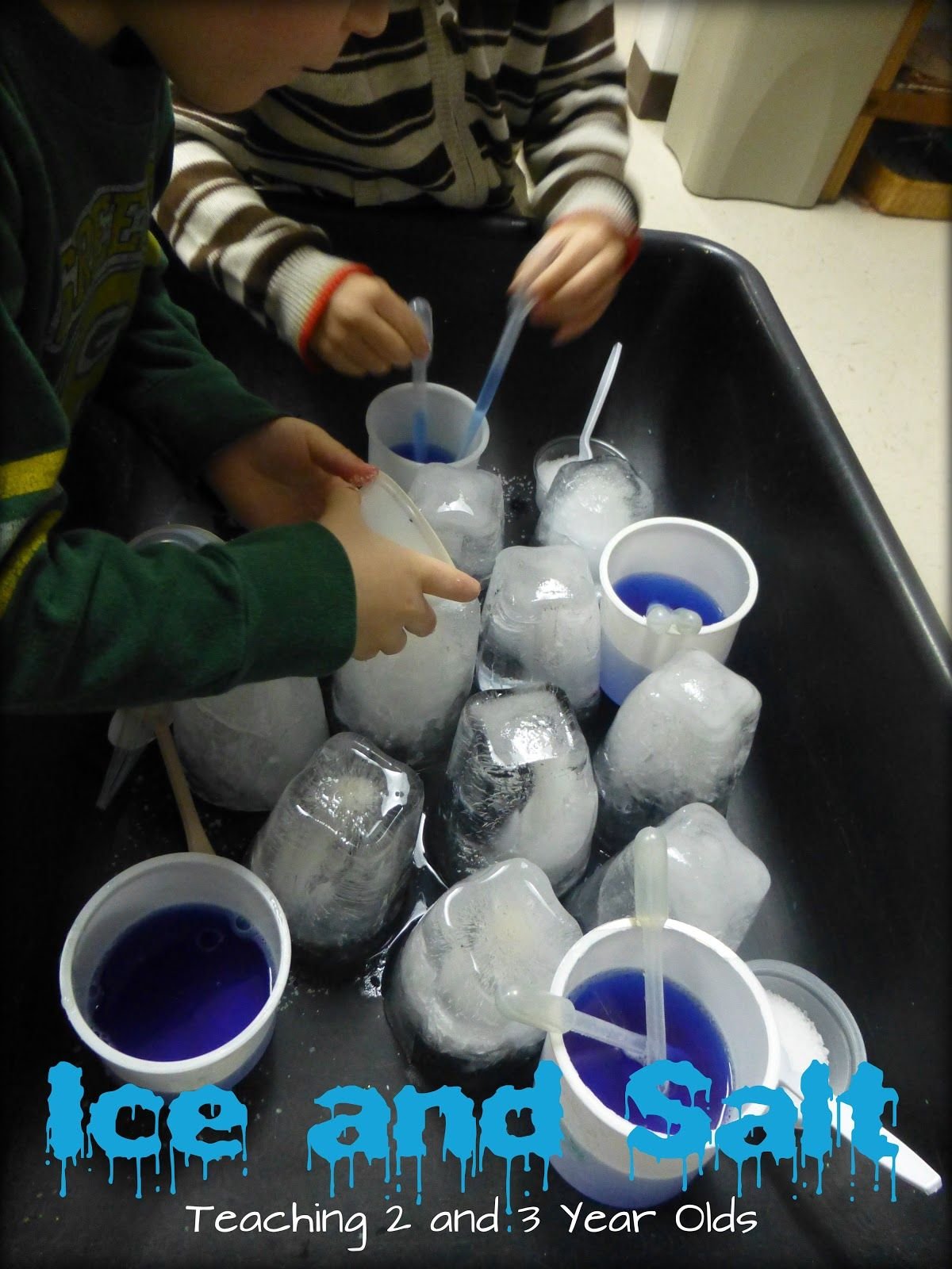 Exploring Ice In The Sensory Table