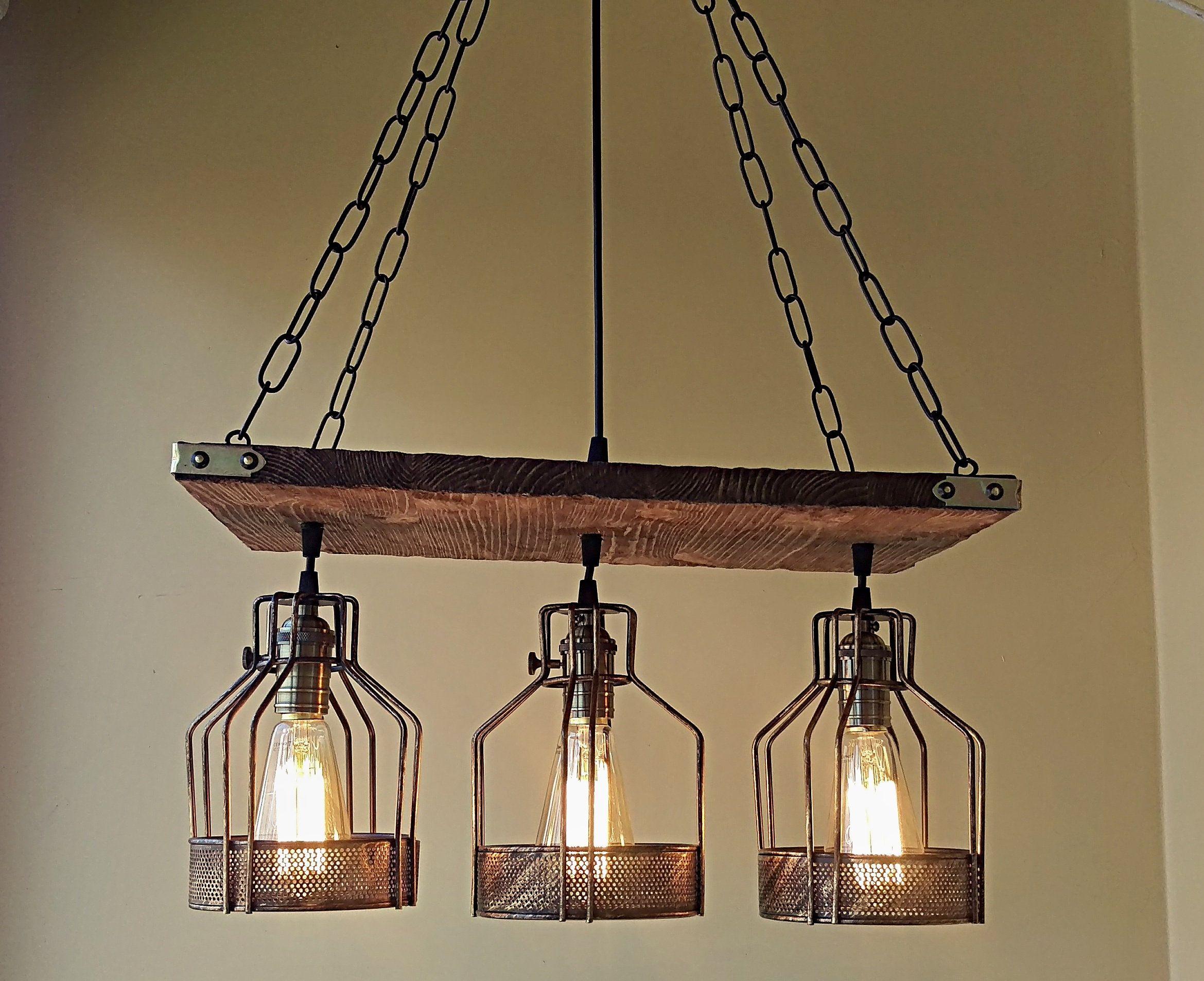 Ceiling aged wood pendant lighting rustic handmade pendant lights