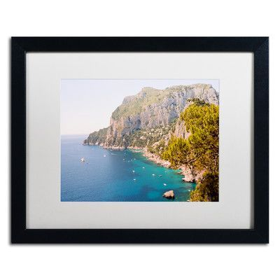 Trademark Art Capri Vista by Ariane Moshayedi Framed Photographic Print Size: 1