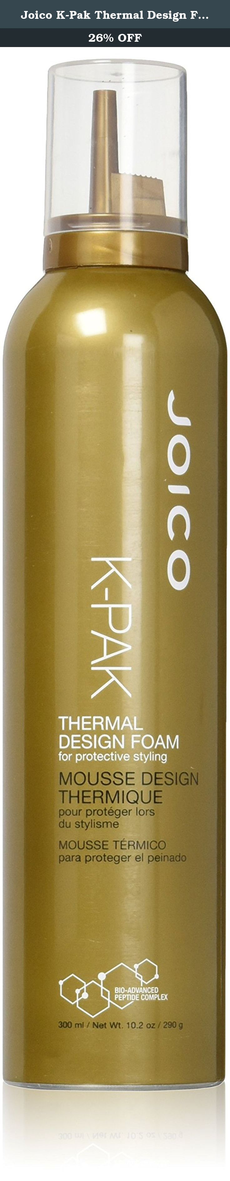Joico K Pak Thermal Design Foam 102 Ounce Apply A Golf Ball Sized