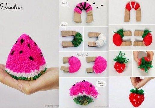 tutos et diy faire des pompons en laine pompon en laine. Black Bedroom Furniture Sets. Home Design Ideas