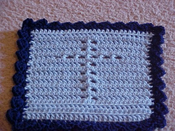 Crochet Cross Prayer Cloth Skill / Level: Unknown FREE FOR CHARITY USE ONLY -- See info on website link
