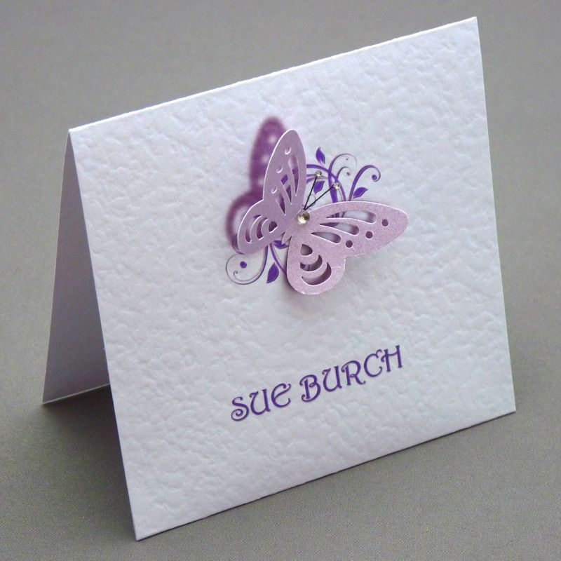 Handmade personalised 3d butterfly wedding stationery invitations ...