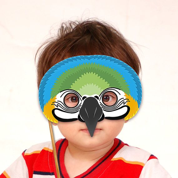 Bird birds Mask Duck Parrot BV27