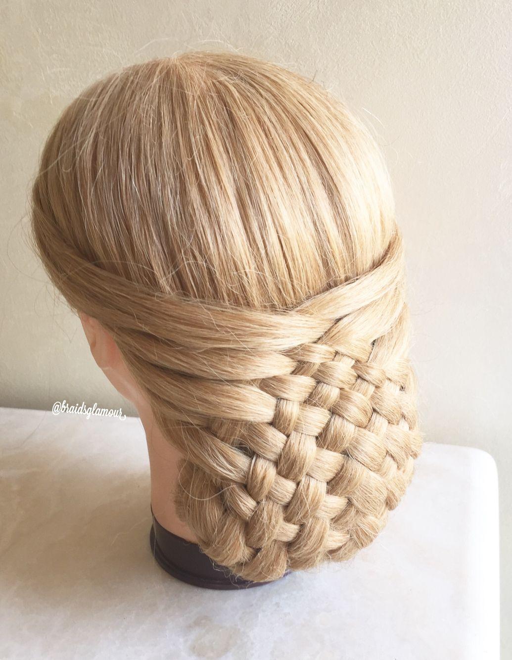 Woven updo feeftechnieken pinterest updo hair style and braid