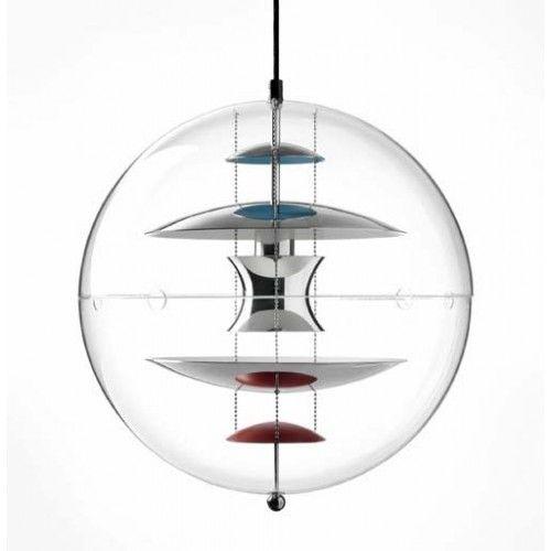 The World Famous Danish Designer Verner Panton Globe Lamp Designed