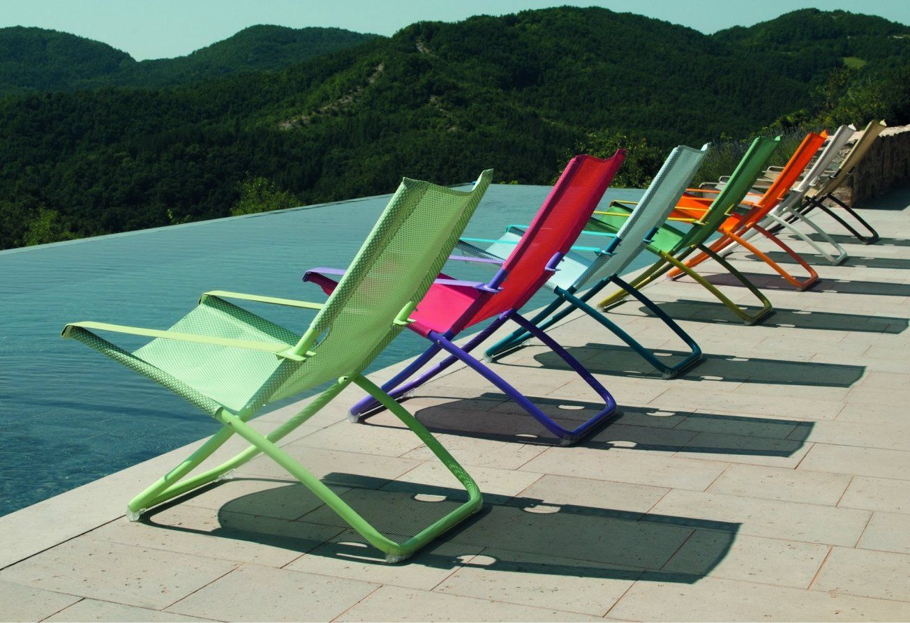Create A Relaxing Outdoor Environment With Our Colourful Snooze Deck Chairs  From IQ Furniture.