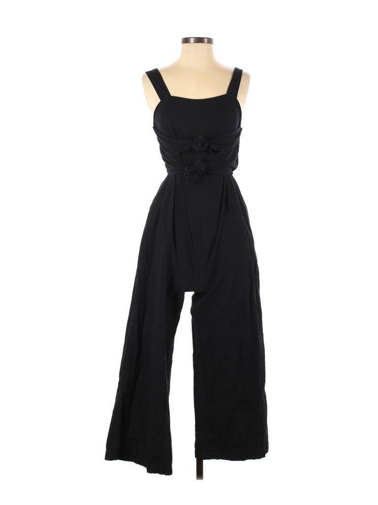 Le Lis Jumpsuit Black Solid Jumpsuits Size Small In 2021 Small Dress Solid Jumpsuit Jumpsuit [ 1024 x 768 Pixel ]