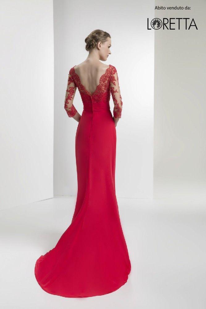 info for fe7b9 8c4e9 Collezione 2017 | Vestito da cerimonia rosso con scollatura ...