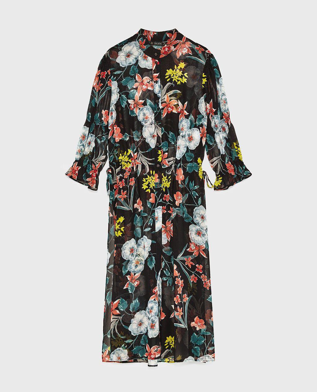 mejor amplia selección último estilo de 2019 Imagen 8 de CAMISA LARGA ESTAMPADO FLORAL de Zara | Camisas ...