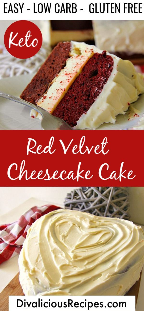 Low Carb Red Velvet Cheesecake Cake