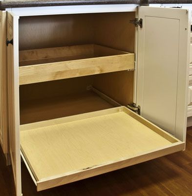 Charming Corner Base Cabinet Ideas | Bottom Roll Out Tray