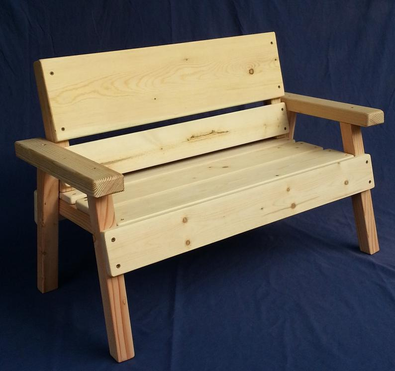 Diy Project Unfinished Kids Solid Wood Bench Toddler Boy Or Etsy In 2020 Diy Outdoor Wood Projects Diy Kids Chair Outdoor Wood Projects