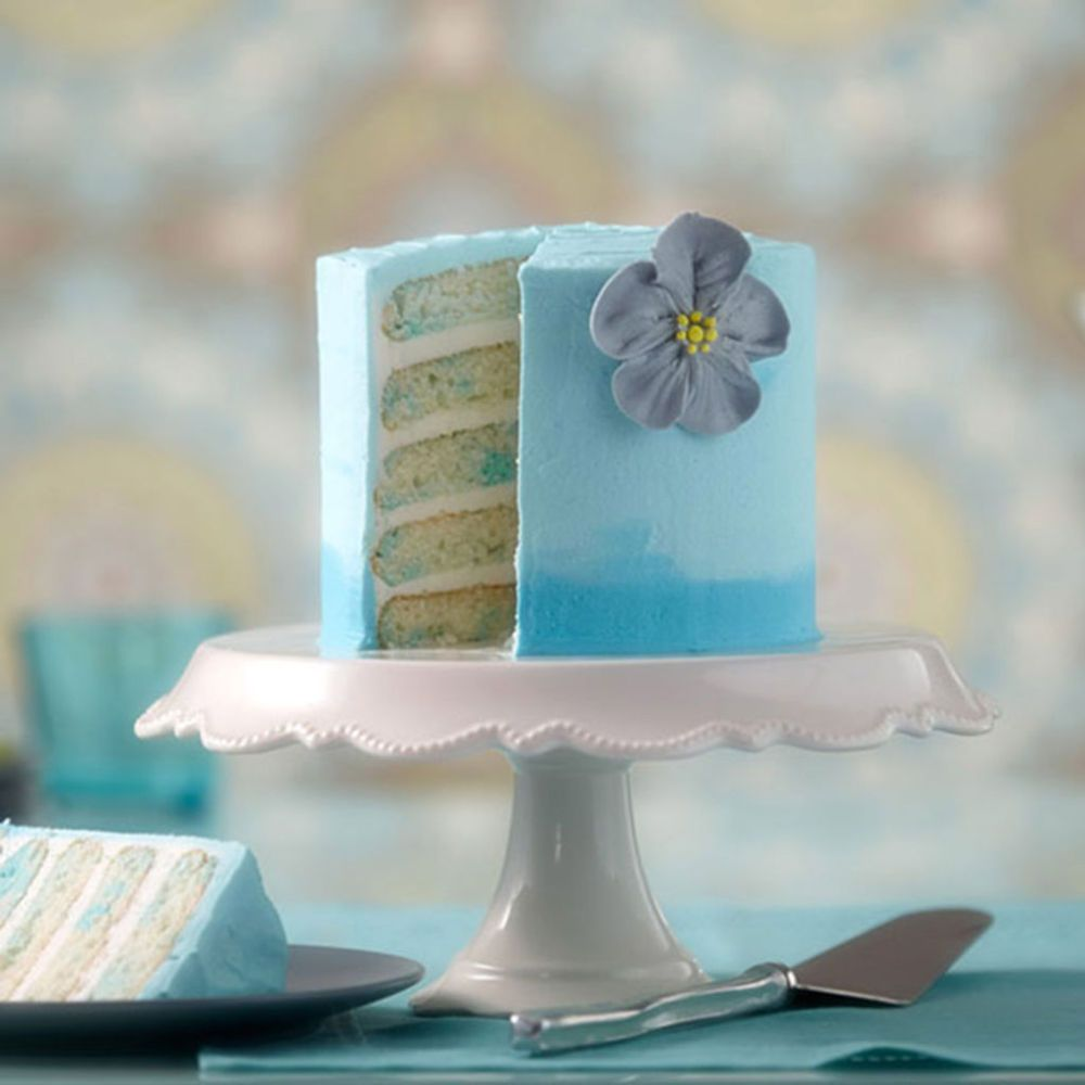 Take a favorite trend and apply to this Georgia Watercolor Cake