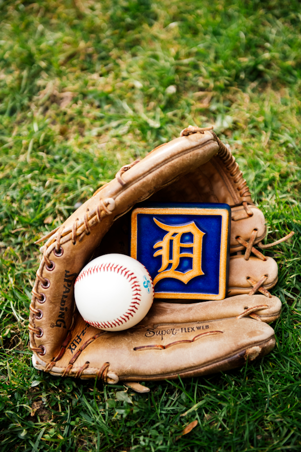 Tigers Old English D Tile Old English D Detroit Tigers Team S