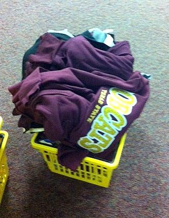 A typical customer's shopping basket - full of great Bobcat gear.