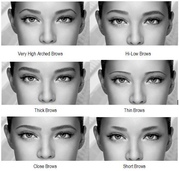 6 Different Eyebrow Shapes Change Your Face Toronto Calgary