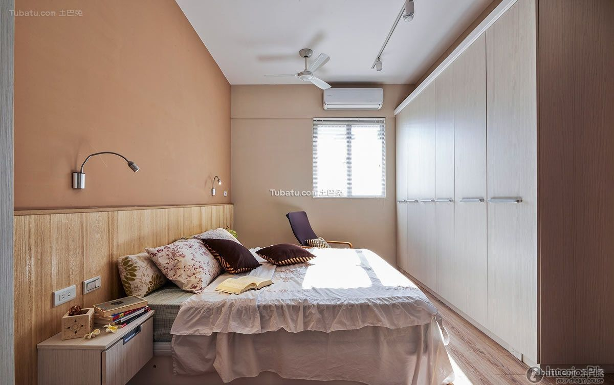 Japanese minimalist bedroom interior design decoration