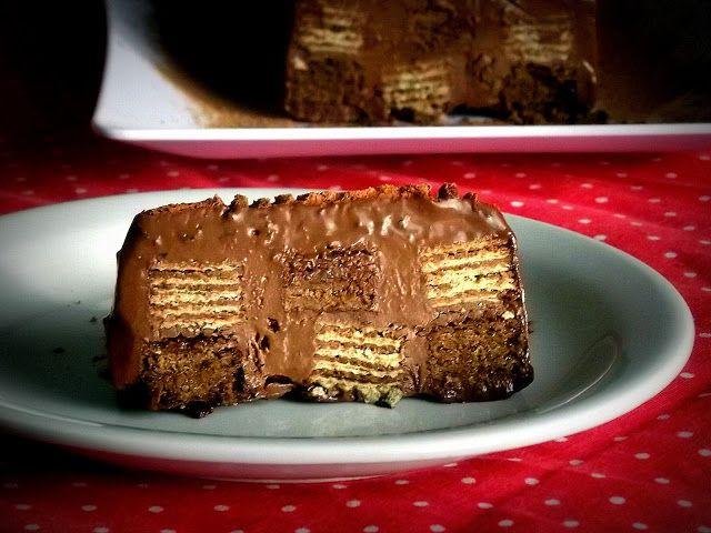 Pitadinha: Torta de wafer com chocolate