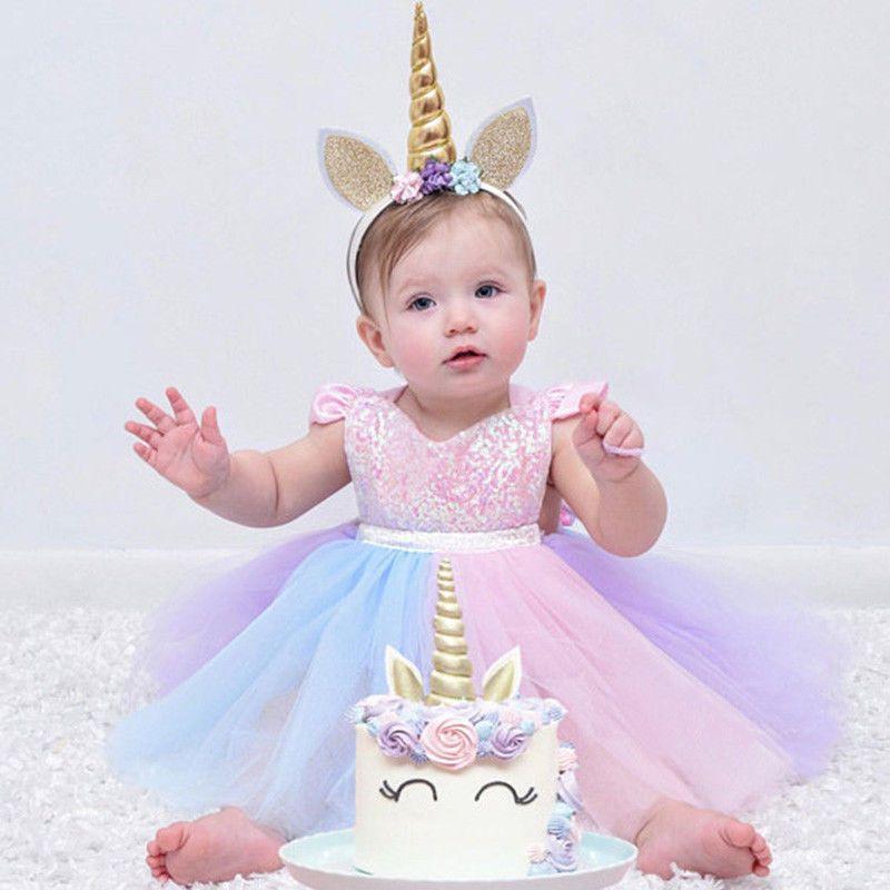 3ededfd9c42 Unicorn Tutu Dress Baby Girl 1st Birthday Rainbow Party Romper Outfit Photo  Prop  Fashion  RomperJumpsuitBodysuitPlaysuitDressClothes ...