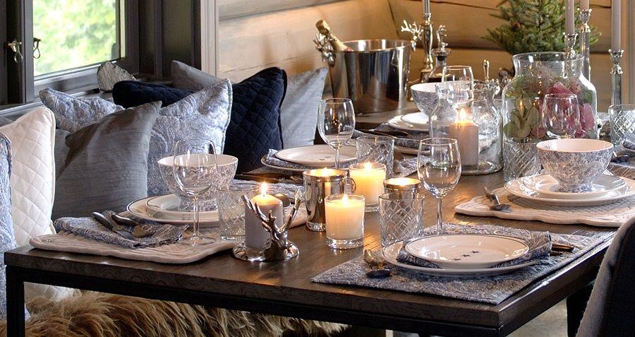Spisebrikke i Bomull Blå Paisley | Interiér - Kjøkken | Florence AS obchod