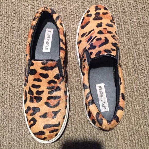 Steve Madden Cheetah Slip-ons   Steve