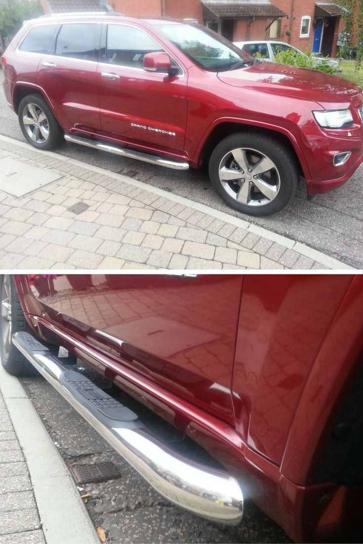 Harry Made His Grand Cherokee Look Even Better With Some Stainless Steel Side Bars See If We Have Some To Fit Yo Jeep Grand Cherokee Jeep Exterior Accessories