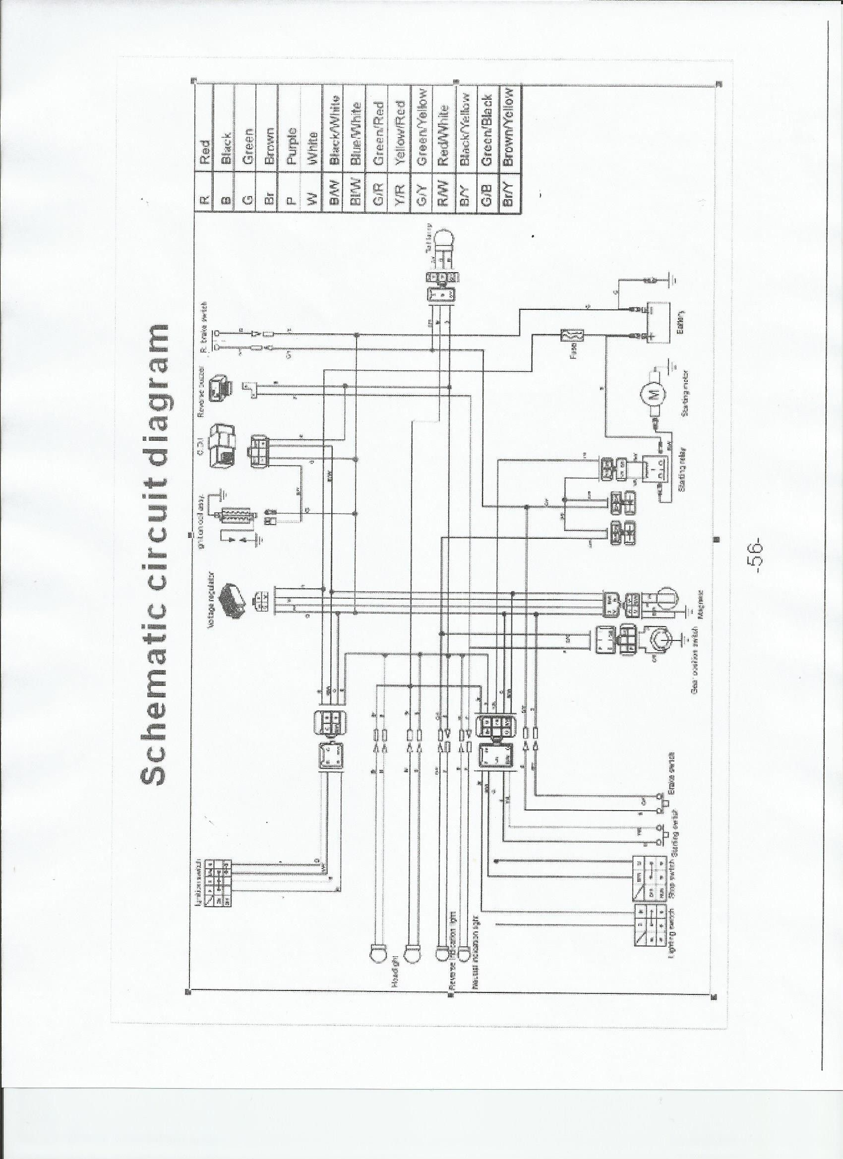 Chinese Atv Wiring Schematic In 2021 Taotao Atv Diagram Atv
