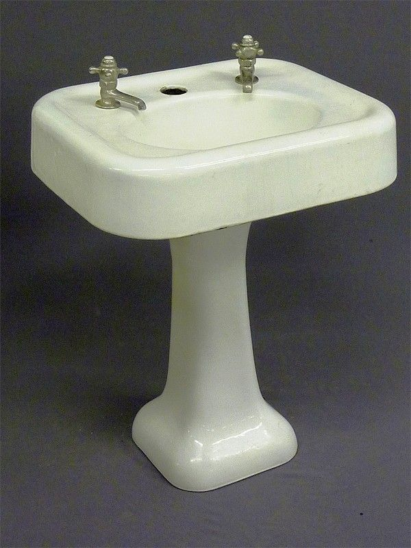 Amazing Old Pedestal Sinks | 34: ANTIQUE PORCELAIN U0026 CAST IRON PEDESTAL SINK SIGNED
