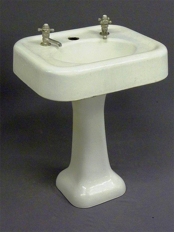 pedestal sink antique porcelain