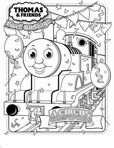 thomas the train birthday coloring pages - Thomas Train Coloring Pages
