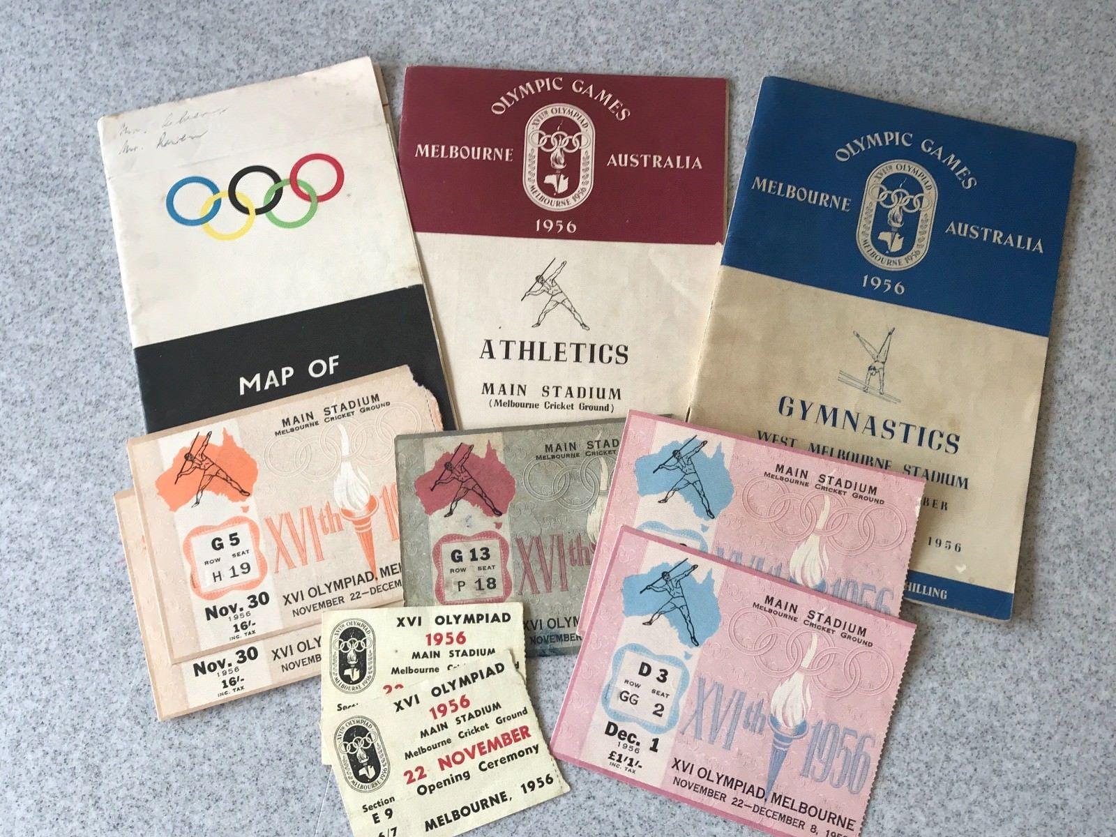 1956 MELBOURNE OLYMPICS MEMORABILIA Olympics