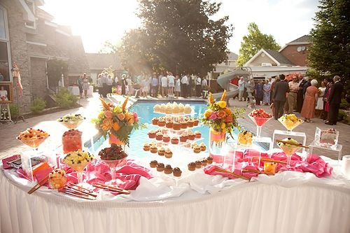 Pool Wedding Decoration Ideas: Wedding Pool Party Theme