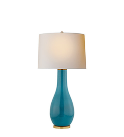 Visual Comfort Cha8655osb Np E F Chapman Orson 33 Inch 150 Watt Oslo Blue Table Lamp Portable Light En 2020