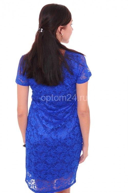 Платье синее А7529 Размеры: 44-50 Цена: 675 руб.  http://optom24.ru/plate-sinee-a7529/  #одежда #женщинам #платья #оптом24