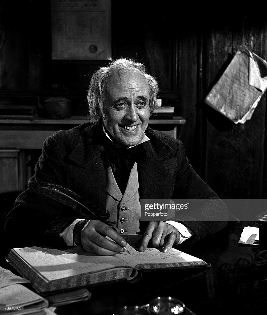 1951 A Picture Of British Actor Alistair Sim Filming Scrooge In