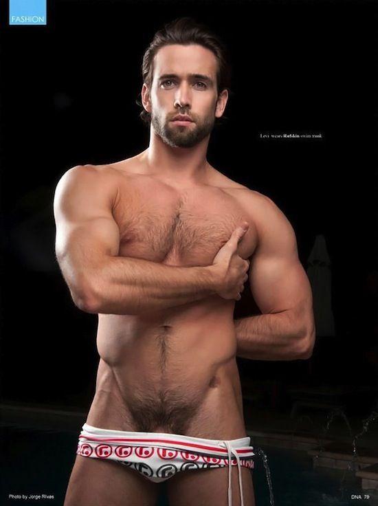 Hairy jock muscle