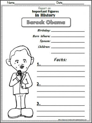 barack obama report template for presidents day black history month in february or election day freebie