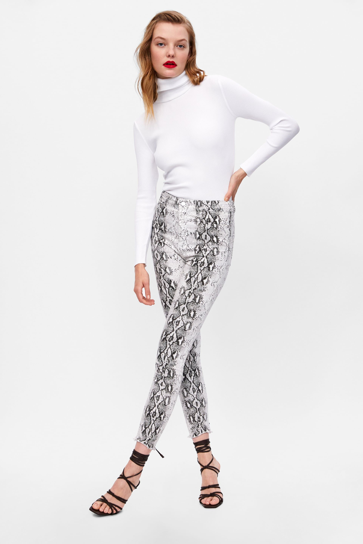 pantalon zara femme serpent