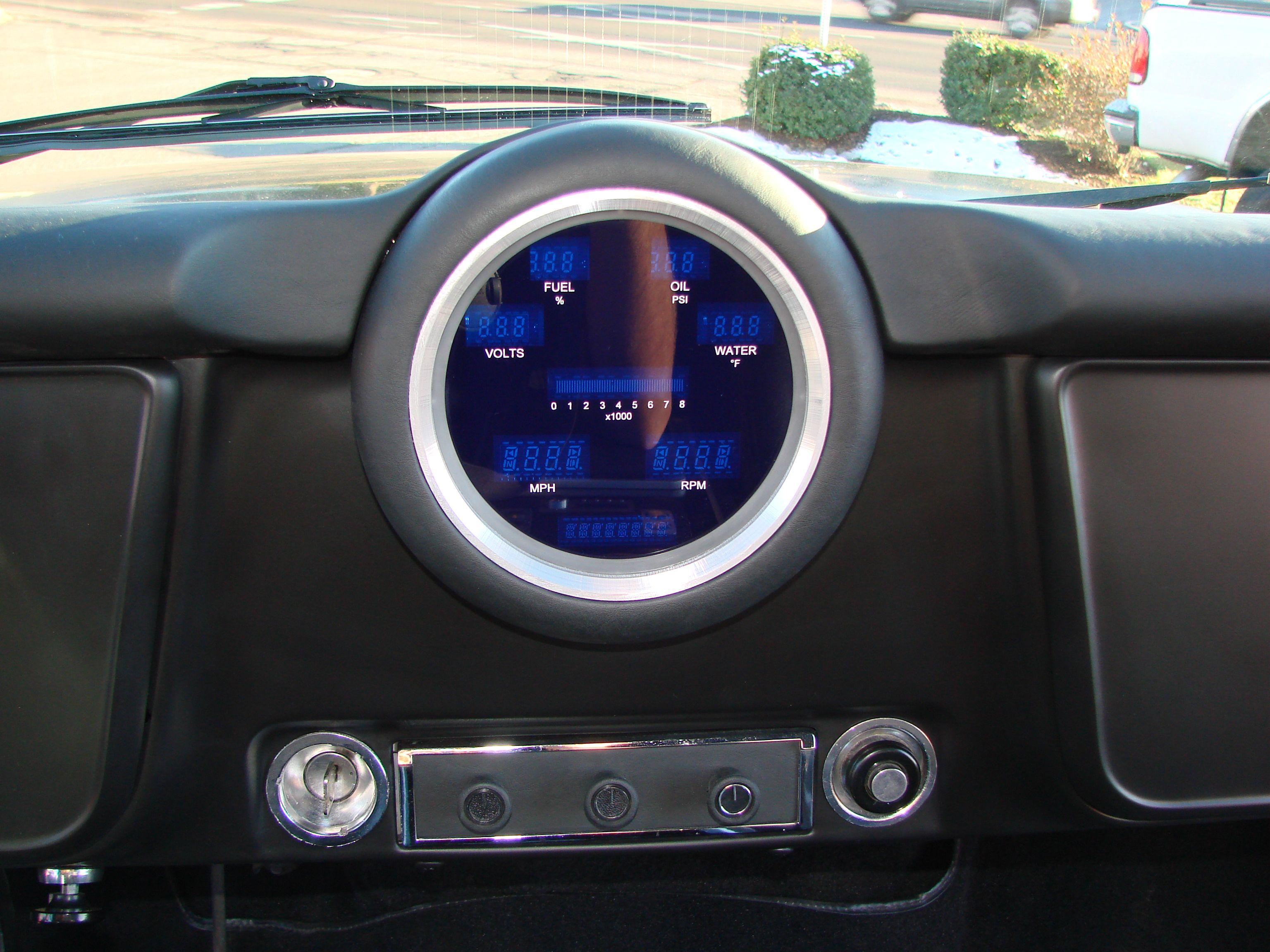 Custom Digital Gauge Cluster : Custom gauge pod for a dakota digital dash cluster