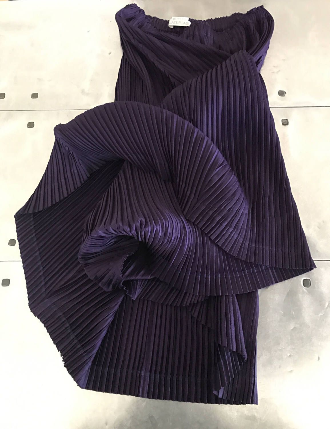 2b0500d25 ISSEY MIYAKE pleats please purple skirt, unique geometric skirt size 3,  Authentic vintage Issey