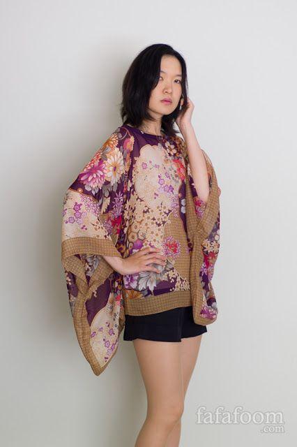 DIY Scarf Top with Kimono Sleeves   diy fashion ...