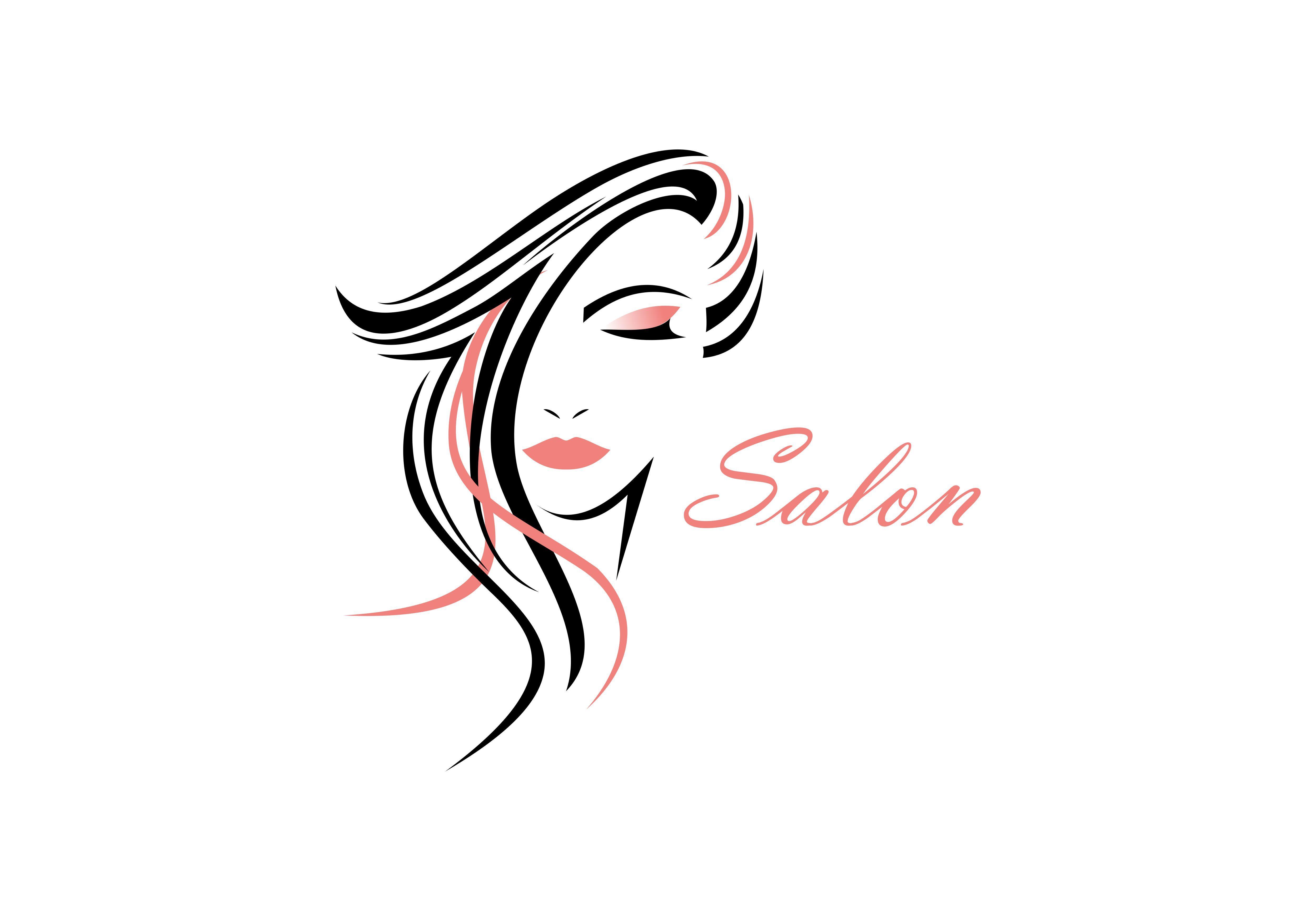 Women Face Hair Salon Logo Vector Graphic By Deemka Studio Creative Fabrica Salon Logo Hair Salon Logos Hair Logo