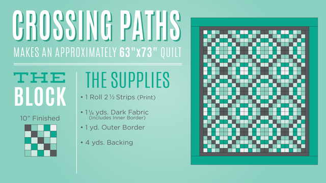 Crossing Paths Quilt Tutorial