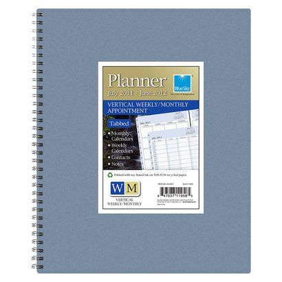 Blue Sky Tabbed Vertical Weekly Monthly Appointment Planner 85 - appointment planner